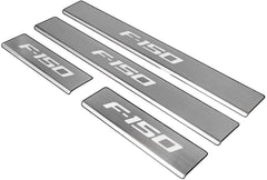 Ford F-150 Door Sill Stainless Steel Plate Protectors with LED light 2009-2014