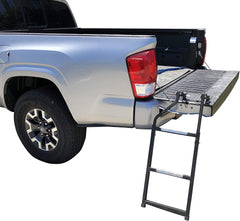 F150 Tailgate Foot Ladder, Steel Aluminum and Sturdy Rubber Compatible for Ford 150
