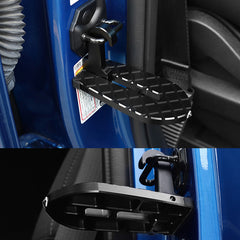 Ford F150 Door Lock Steps Anti-slip Folding Metal Pedals Roof Ladder Silver / Black