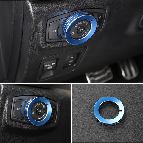Ford F150 Knob Ring Cover 7 Pcs/Set Air Conditioner Audio Volume Switch XLT 2016 2017 2018