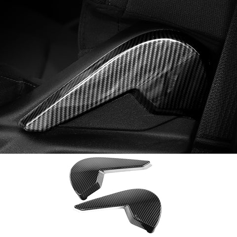 Ford f-150 2016-2020 Seat Adjust Stick Trim Cover One Pair Color: Carbon Fiber, Silver