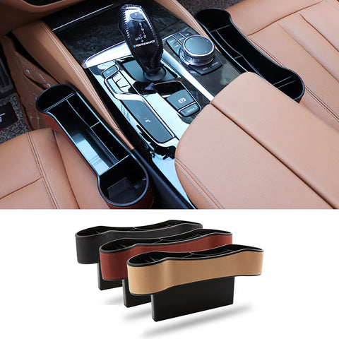 Seat Gap Storage Box for Ford F150 One Pair Color Black Brown Beige