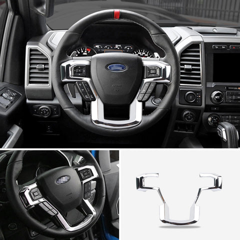 Ford F150 Steering Wheel Bright Trim Cover 2017-2020