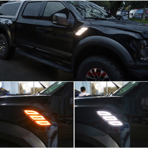 Raptor Front Side Fender LED Light DRL 2017-2020 Compatible for Ford 150