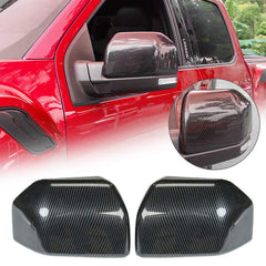 150 Side Mirror Cover Trim ABS Carbon Fiber Grain 2015-2020