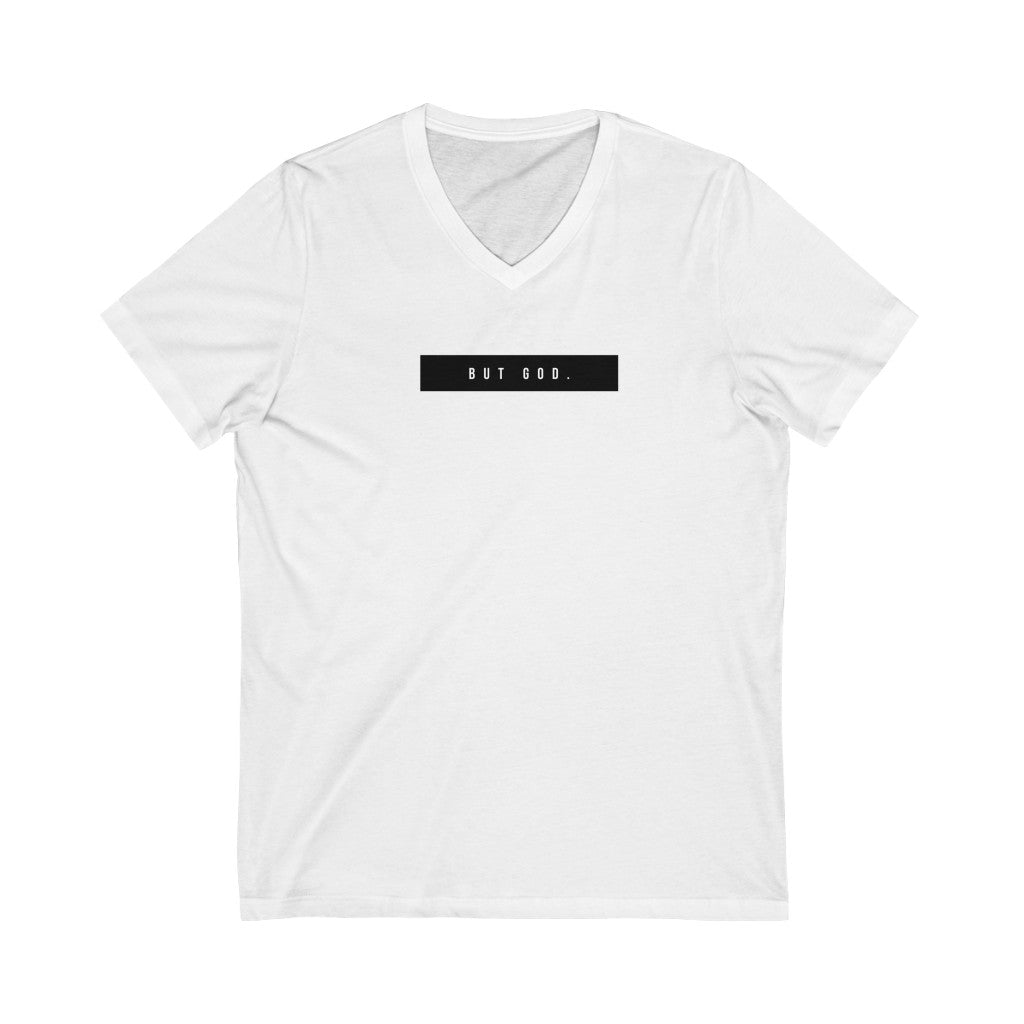 But God Short Sleeve V-Neck Tee