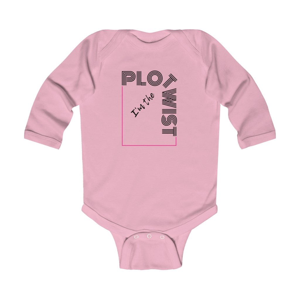 """Plot Twist"" Infant Long Sleeve Bodysuit"