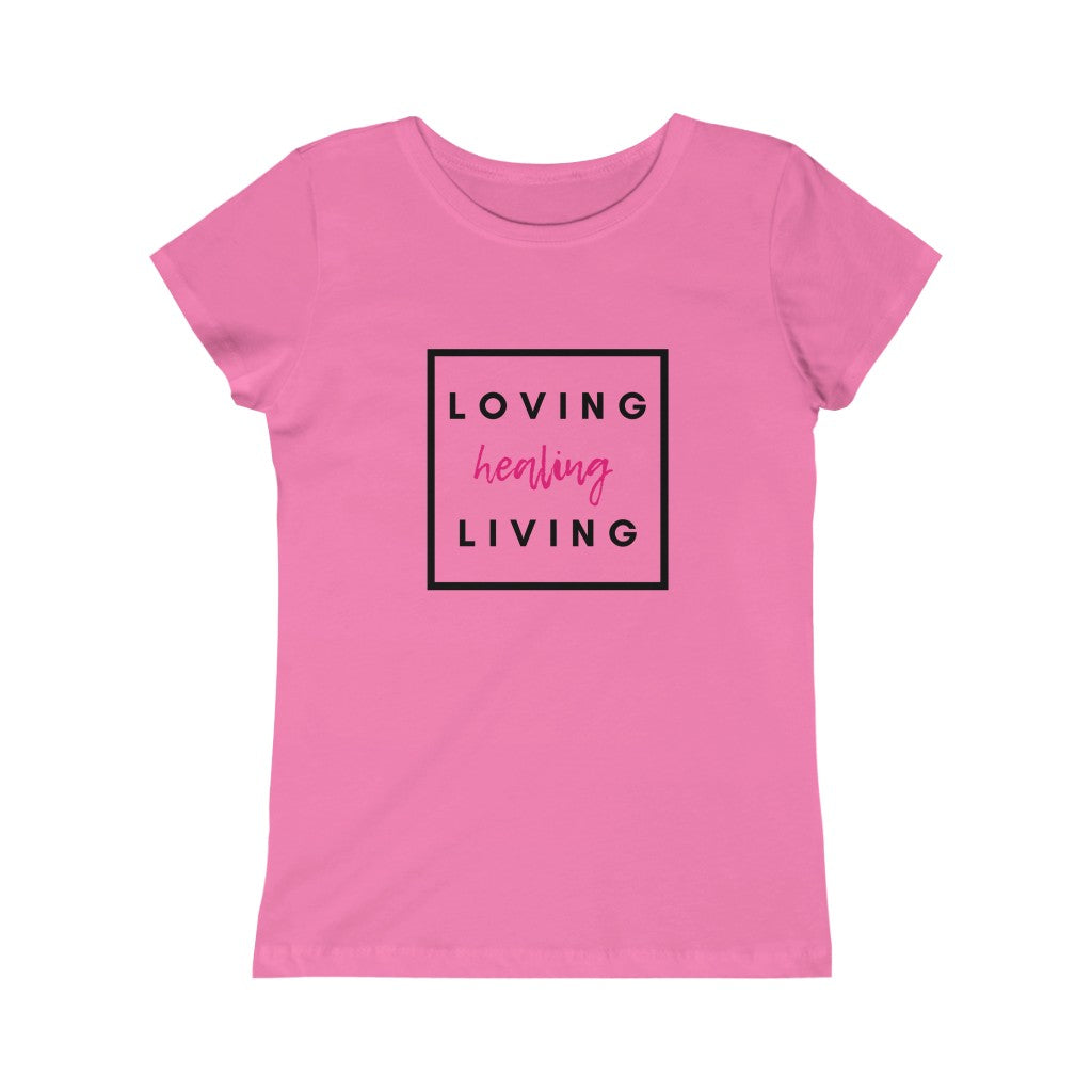 "Girls ""Living Loving & Healing"" Tee"