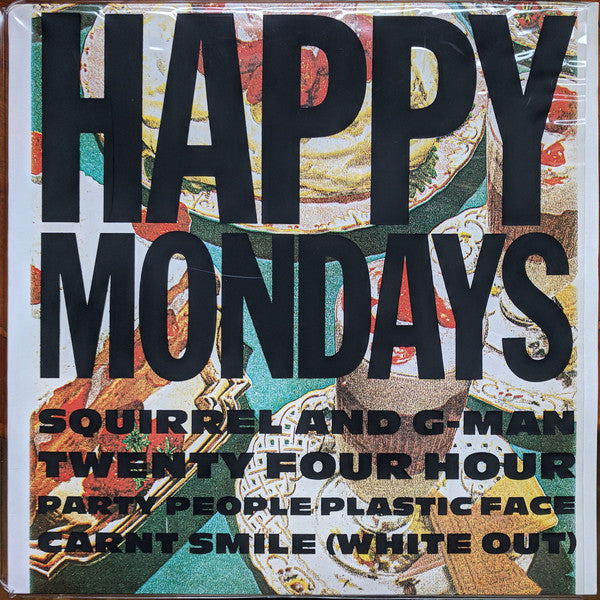 Happy Mondays - Squirrel And G-Man Twenty Four Hour Party People Plastic Face Carnt Smile (White Out) (LP, 2020 reissue)