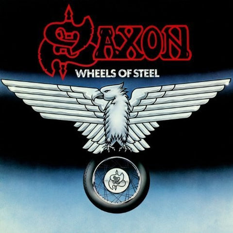 Saxon - Wheels Of Steel (LP, Ltd, Blue & White splatter vinyl)