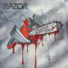 Razor - Violent Restitution LP (clear / grey splatter vinyl)