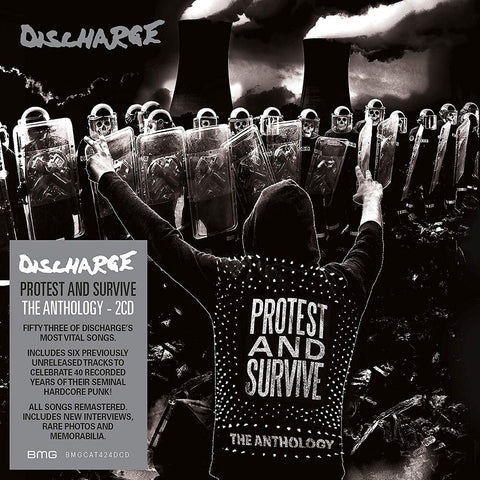 Discharge - Protect And Survive: The Anthology (2xLP, Black/White Splatter Gatefold Vinyl)
