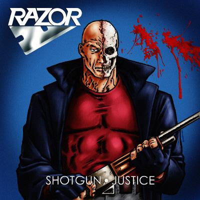 Razor - Shotgun Justice LP (clear / red splatter)