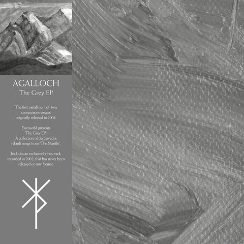"Agalloch - The Grey EP (12"" EP, Ltd. Deluxe 180g Silver Gatefold Vinyl + Download)"