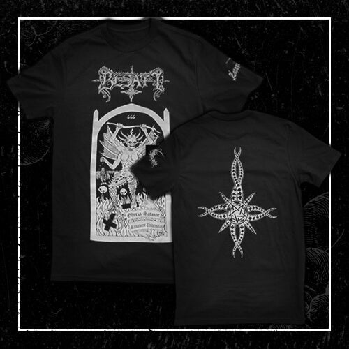 [T-Shirt] Besatt - Gloria Satanae Salvatorem Universitas