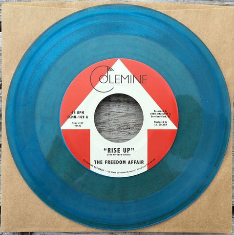 "The Freedom Affair - Rise Up / Rise Up (inst) (7"", Blue vinyl)"