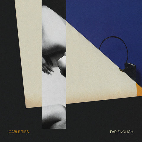 PREORDER - Cable Ties - Far Enough (LP, Black/Orange swirl)
