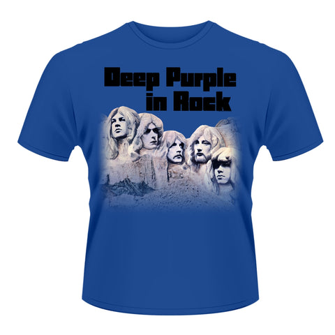 Deep Purple - In Rock (T-Shirt - Blue - Large)