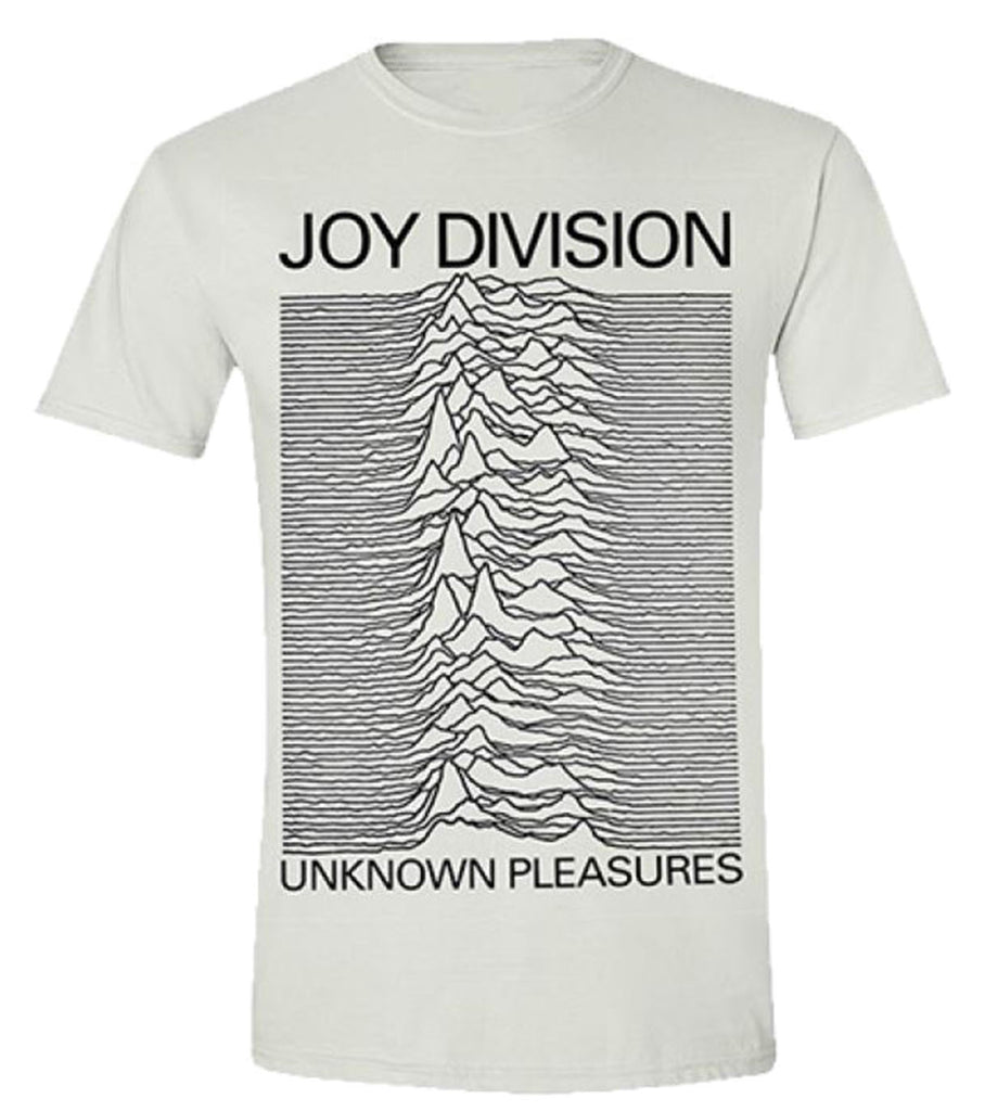 Joy Division - Unknown Pleasures  (T-Shirt - White - Large)