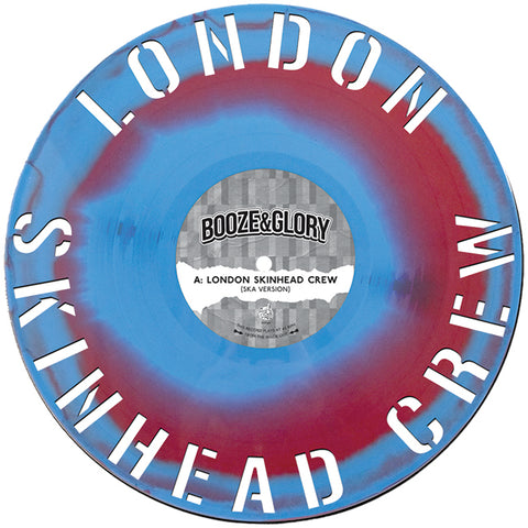 Booze & Glory - London Skinhead Crew (LP, Red/Blue cut vinyl)