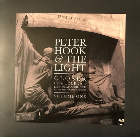 Peter Hook And The Light ‎– Closer Live Tour 2011 Live In Manchester Volume One LP [RSD17]