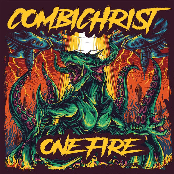 Combichrist - One Fire (2xLP, Earthling Edition: Picture Disc + Orange Vinyl)