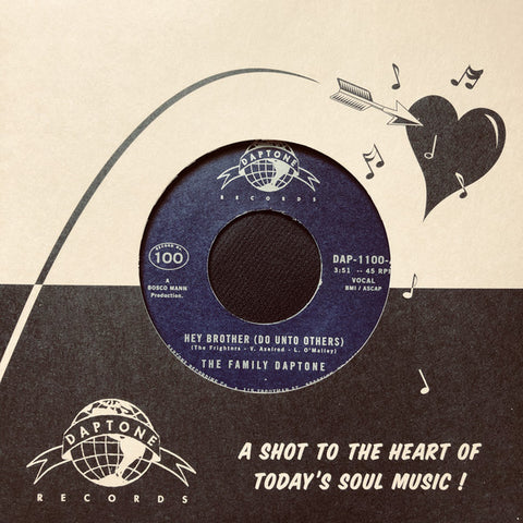 "The Family Daptone/The 100 Knights Orchestra - Hey Brother (Do Unto Others)/Soul Fugue (7"", Generic Sleeve)"