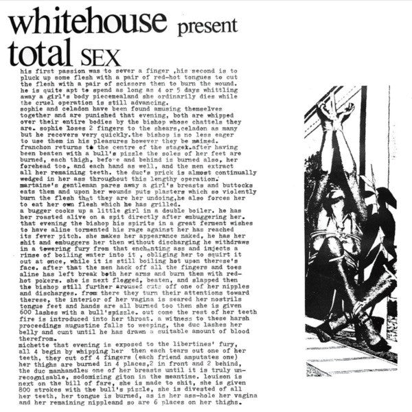 Whitehouse ‎– Total Sex (CD)