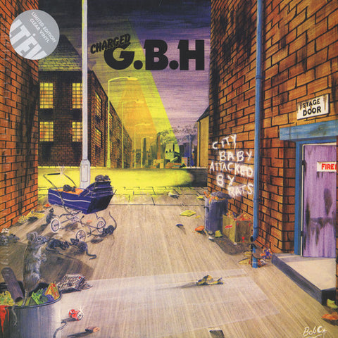 Charged G.B.H - City Baby Attacked By Rats (LP, Clear Vinyl)