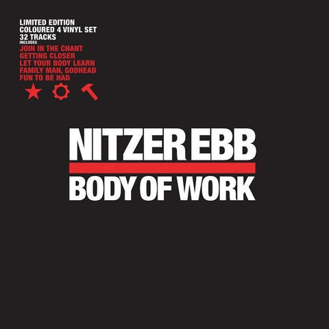Nitzer Ebb - Body Of Work (4xLP, Red & White Vinyl)