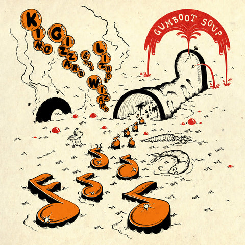 King Gizzard & The Lizard Wizard - Gumboot Soup (LP, Orange with Black and Red Splatter Vinyl)