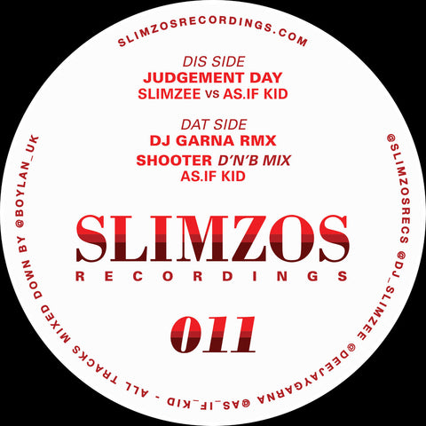 "DJ Slimzee vs As.If Kid - Judgement Day (12"")"
