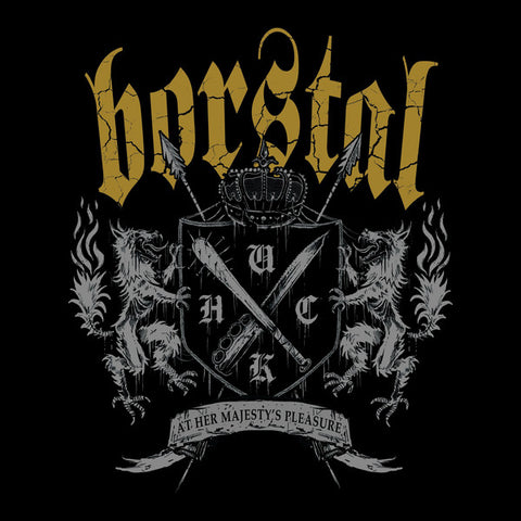 "Borstal - At Her Majesty's Pleasure (12"", black with gold splatter vinyl)"