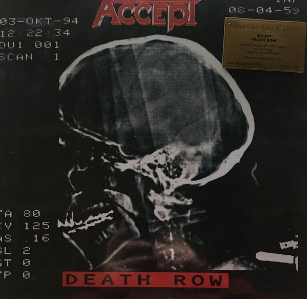 Accept - Death Row (2xLP, 2017 180gm reissue)