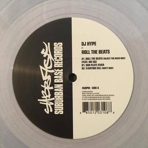 "DJ Hype - Roll The Beats (Clear 12"")"