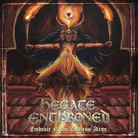 Hecate Enthroned - Embrace Of The Godless Aeon (LP, red and yellow splatter vinyl)