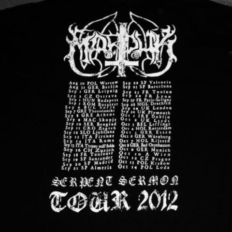 [T-Shirt] Marduk - Serpent Sermon (Tour 2012)