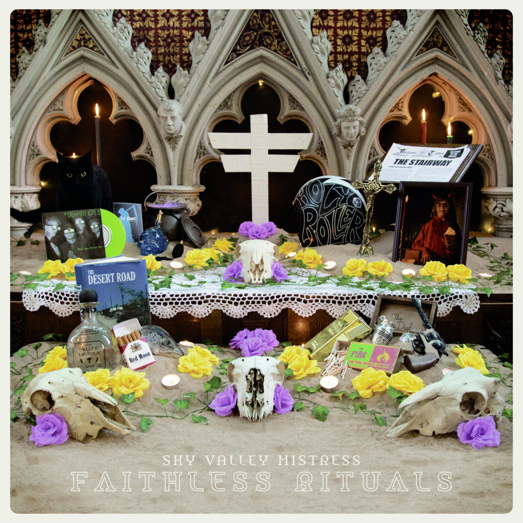 Sky Valley Mistress - Faithless Rituals (LP, green/clear splatter vinyl, inc board game)