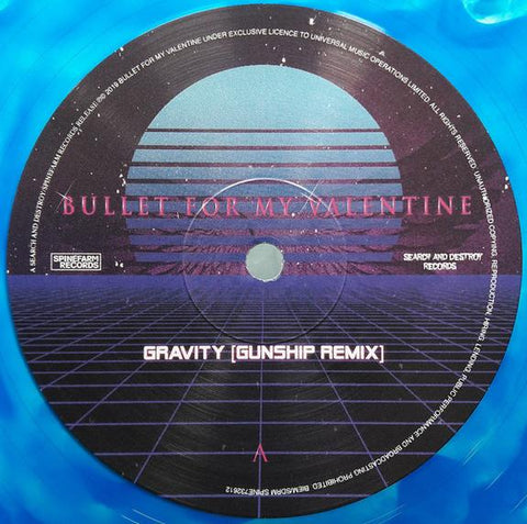 "Bullet For My Valentine - Gravity (Gunship Remix)/Radioactive (10"", blue marbled vinyl)"