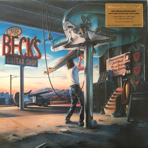 Jeff Beck With Terry Bozzio And Tony Hymas - Jeff Beck's Guitar Shop (LP, transparent blue vinyl)