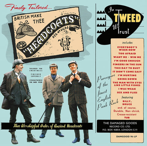 Thee Headcoats - In Tweed We Trust (LP, duck egg blue vinyl)