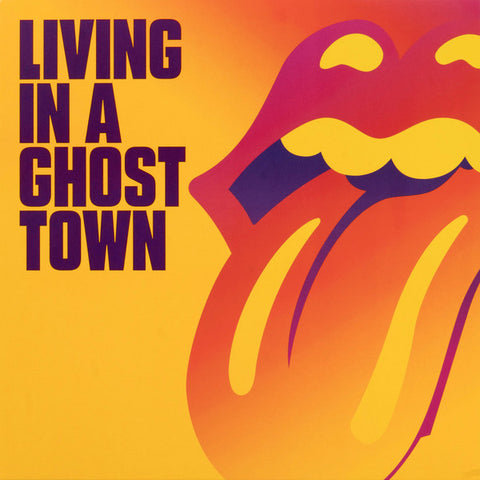 "The Rolling Stones - Living In A Ghost Town (10"", orange vinyl, etched B-side)"