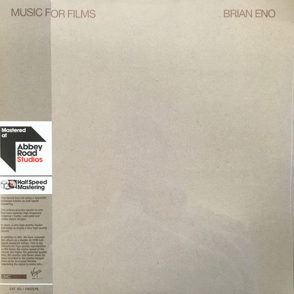 Brian Eno - Music For Films (2xLP, half speed master)