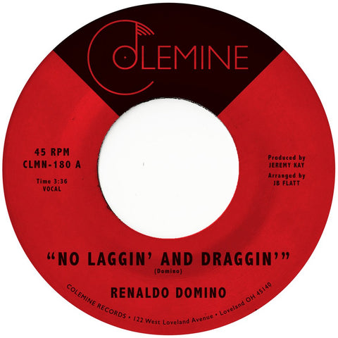 "Renaldo Domino - No Laggin' And Draggin'/Give Up The Love (7"", gold coloured vinyl)"