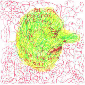 "Pet Crow - How Are You Wired (7"", Highlighter Green vinyl)"