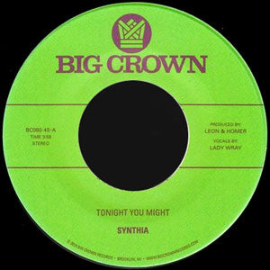 "Synthia ‎– Tonight You Might / Dissolve (7"")"