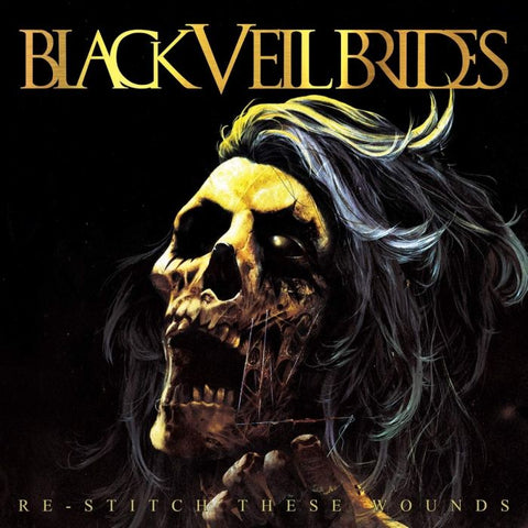 Black Veil Brides - Re-Stitch These Wounds (LP, clear vinyl with neon yellow and black splatter vinyl)