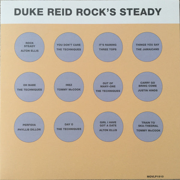 Various - Duke Reid Rock's Steady LP (orange vinyl)