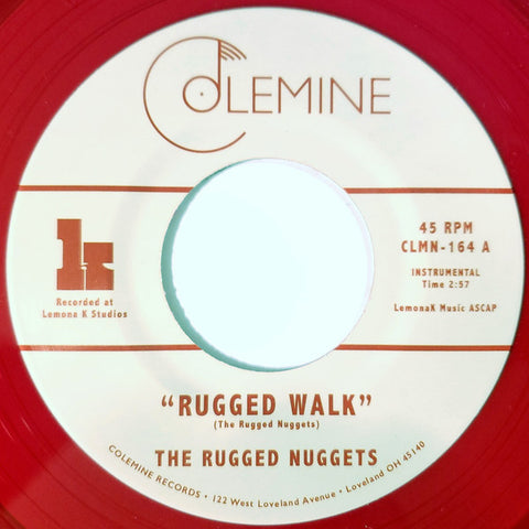 "The Rugged Nuggets - The Rugged Walk (7"", red translucent vinyl)"