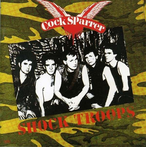 Cock Sparrer - Shock Troops (LP, red and black galaxy vinyl)
